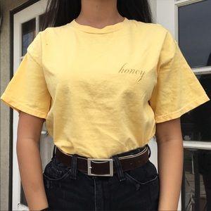 Brandy Melville Honey Crop Top